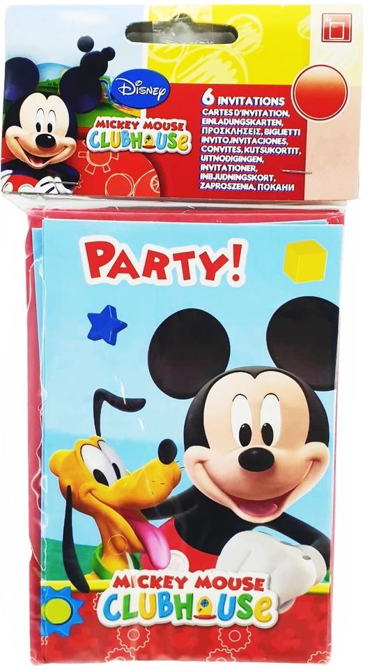 Pozvánka Mickey 6ks