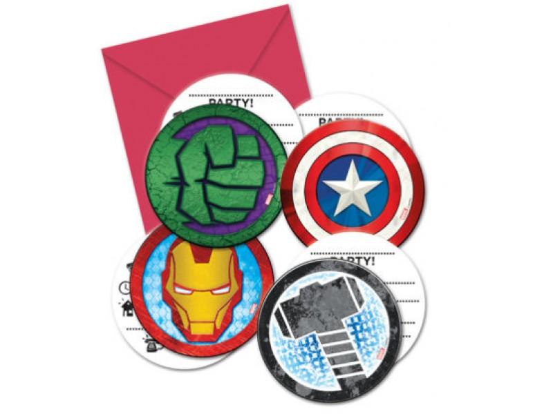 Pozvánka Avengers 6ks