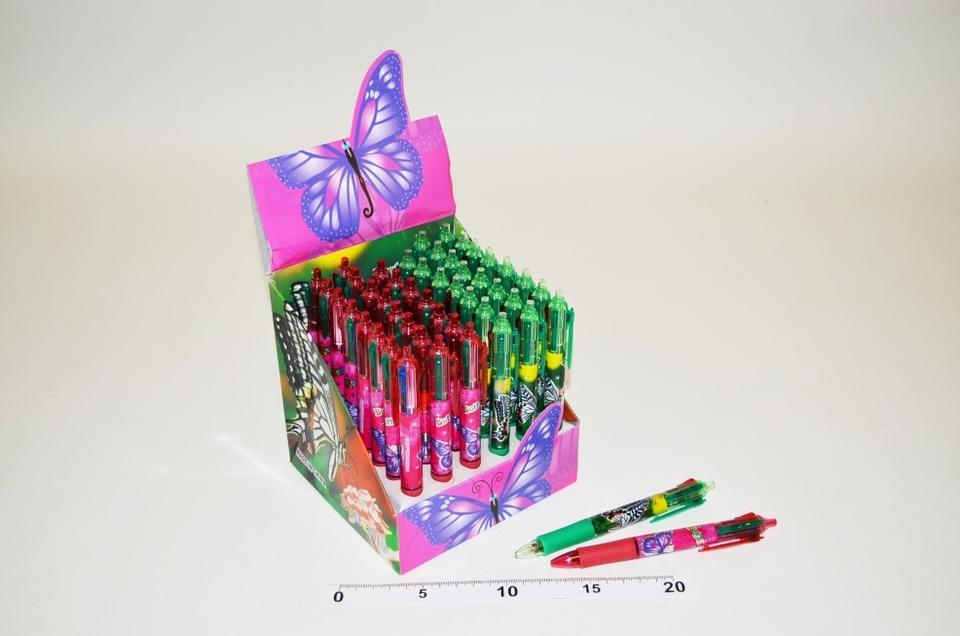 Prepisovačka 4 farebná - motýľ