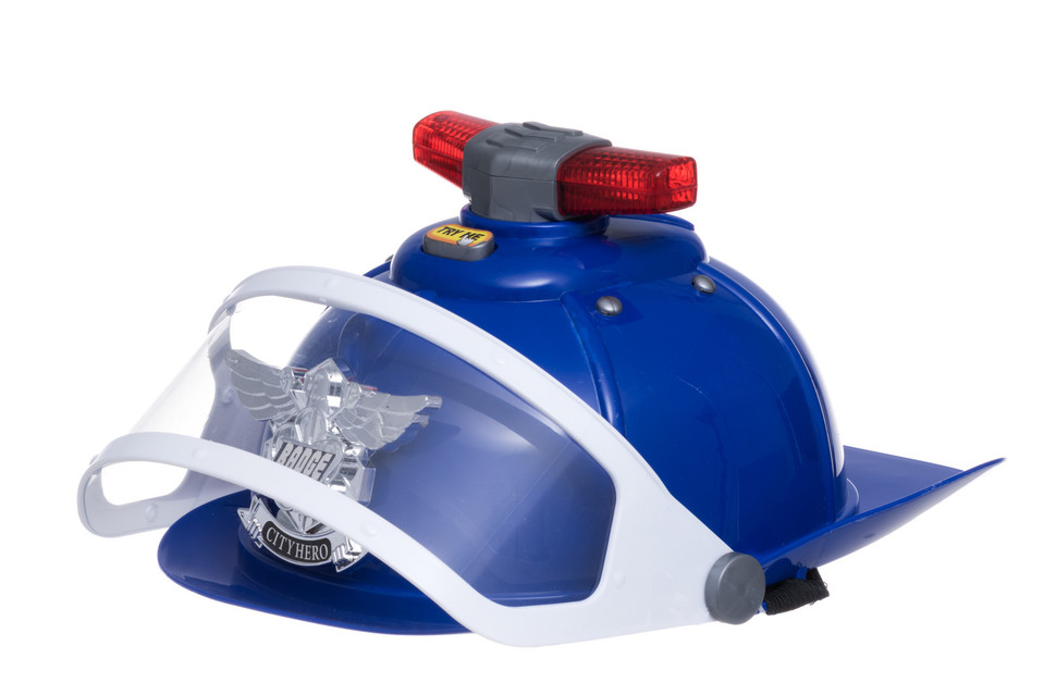Policajná helma s efektami 27cm
