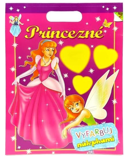 Princezné vyfarbuj nálepkami