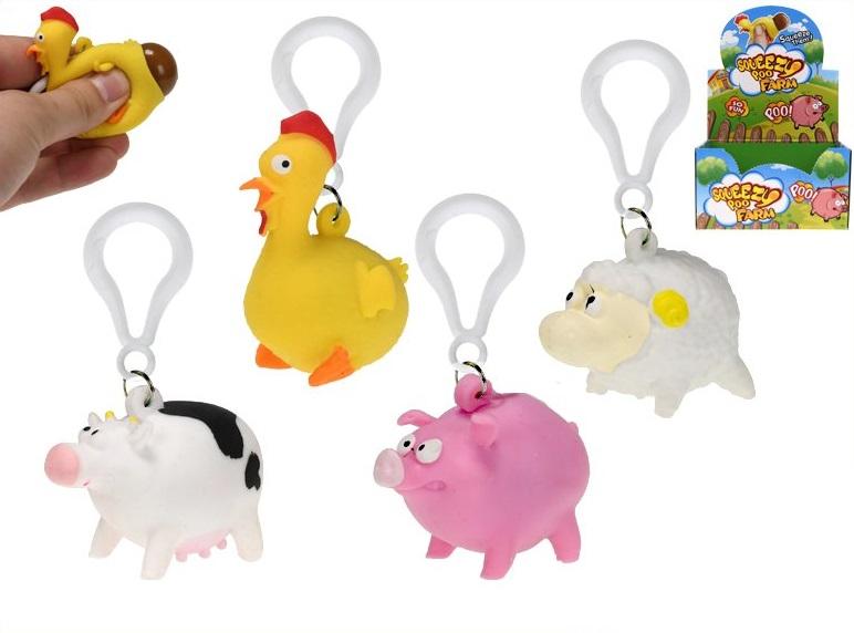 Prívesok na kľúče domáce zvieratká - náhodné