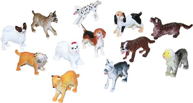 Psy plastové 12ks