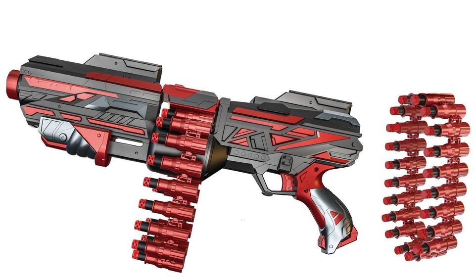 Puška pásová s penovými nábojmi 48cm