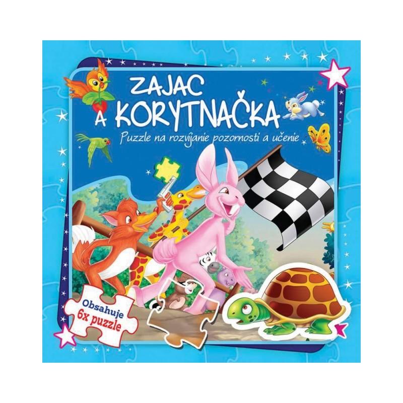 Zajac a korytnačka 6x puzzle