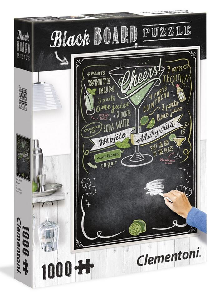Clementoni puzzle 1000 Čierna tabuľa-Na zdravie