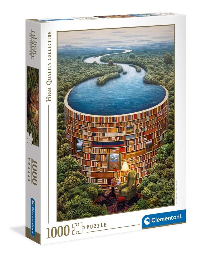 Clementoni Puzzle 1000 Knihovňa