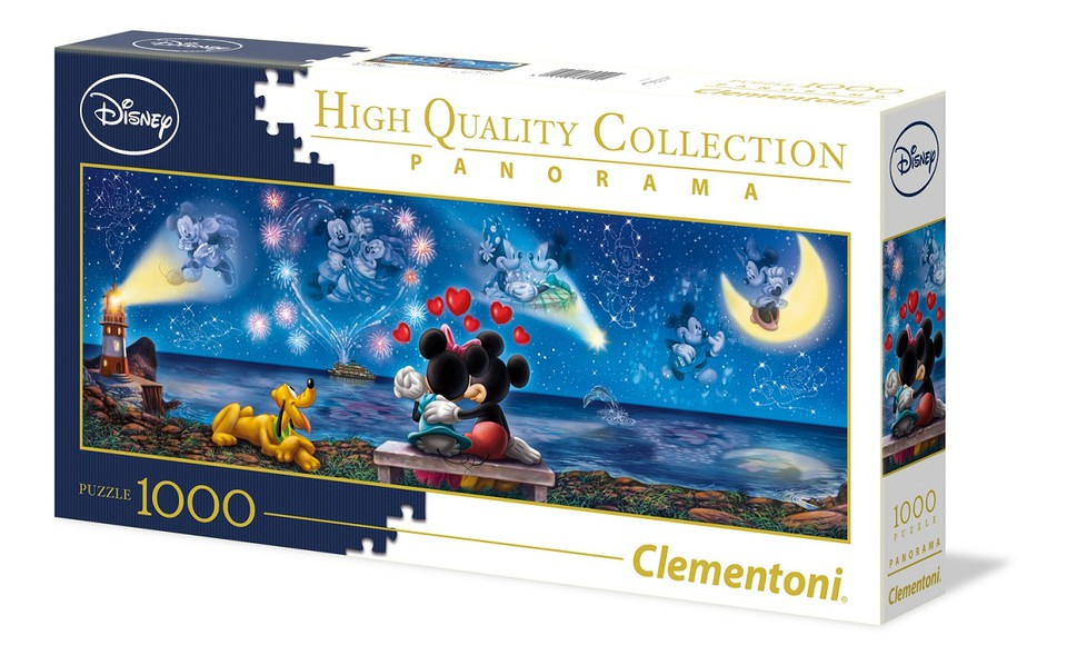 Clementoni Puzzle 1000 Panorama Mickey a Minnie