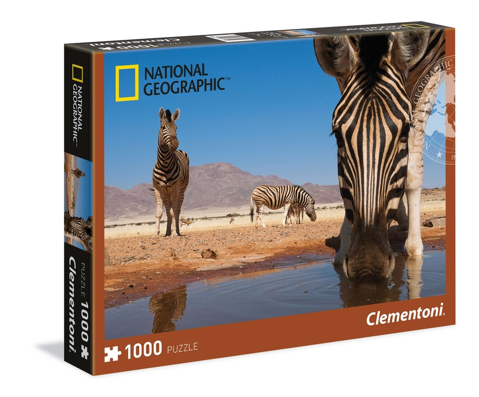 Clementoni Puzzle 1000 National Geographic Zebra