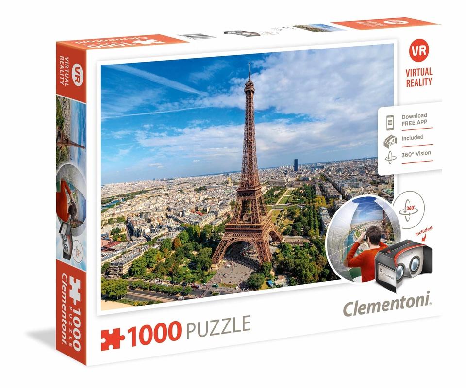 Clementoni Puzzle 1000 Virtuálna realita Paríž
