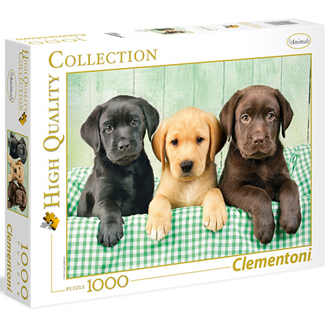 Clementoni Puzzle 1000 Tri labradory