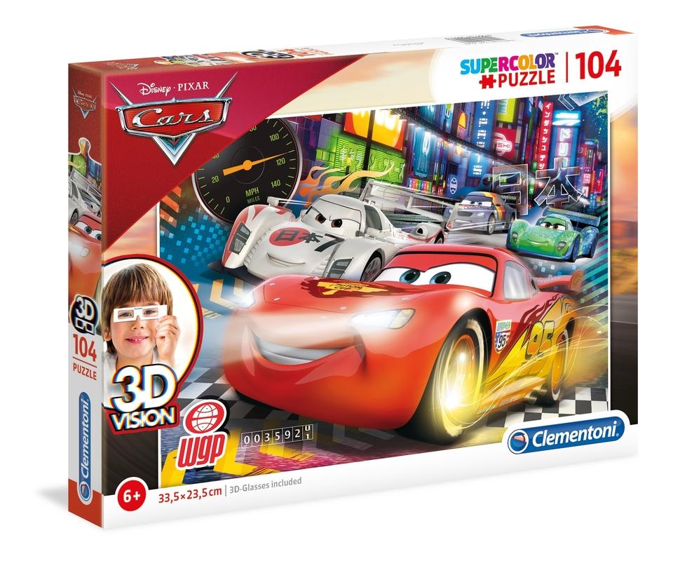 Clementoni puzzle 104 Cars 3D