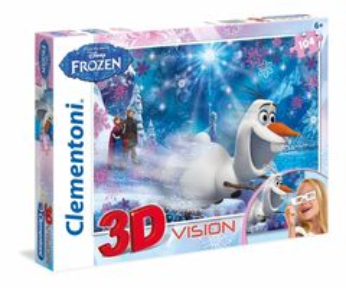 Clementoni Puzzle 104 3D Frozen