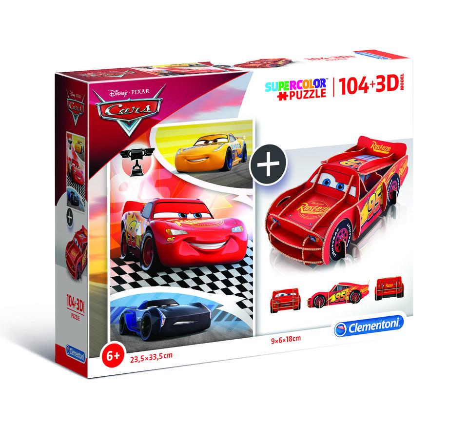 Clementoni puzzle model 104+3D Cars