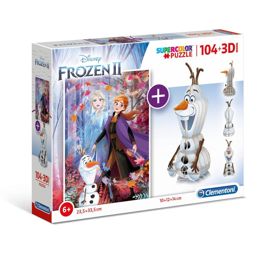 Clementoni puzzle model 104+3D Frozen2