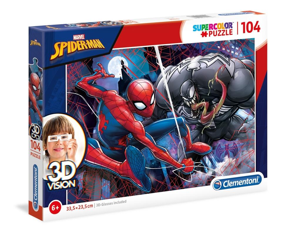 Clementoni Puzzle 104 Spider Man 3D