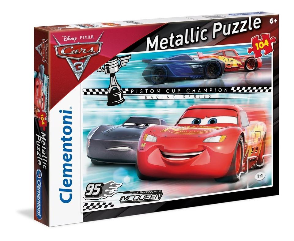 Clementoni Metallic puzzle 104 Cars 3