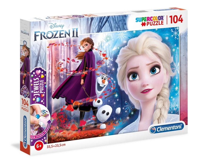 Clementoni Puzzle 104 Frozen2 s kamienkami