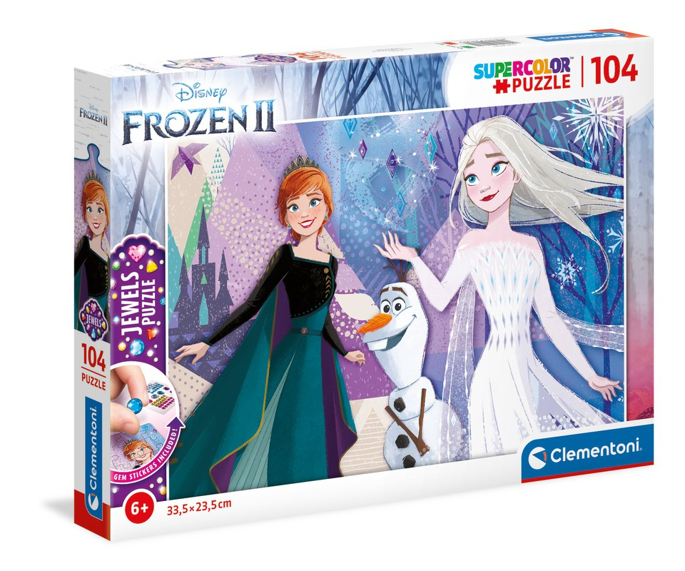 Clementoni Puzzle 104 Frozen s ozdobami