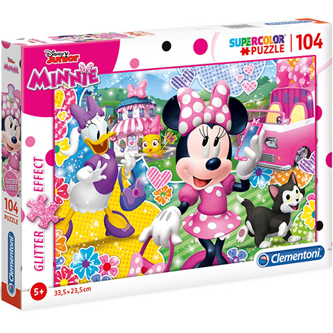 Clementoni Puzzle 104 Minnie s glitrom