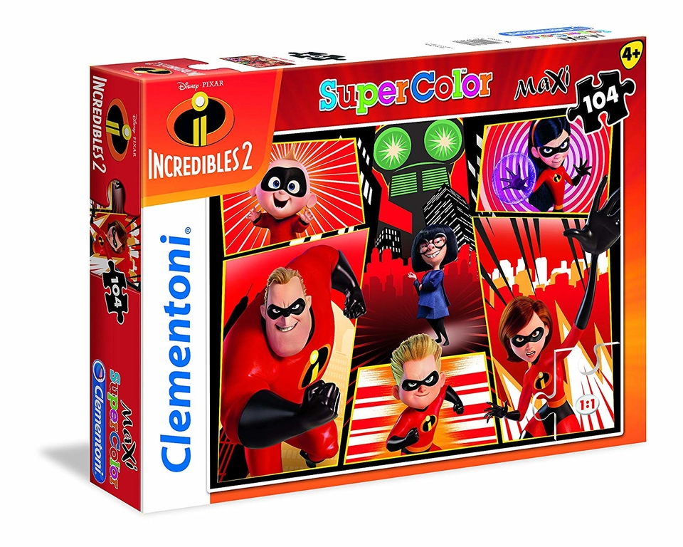 Clementoni puzzle 104 Rodinka úžasných 2