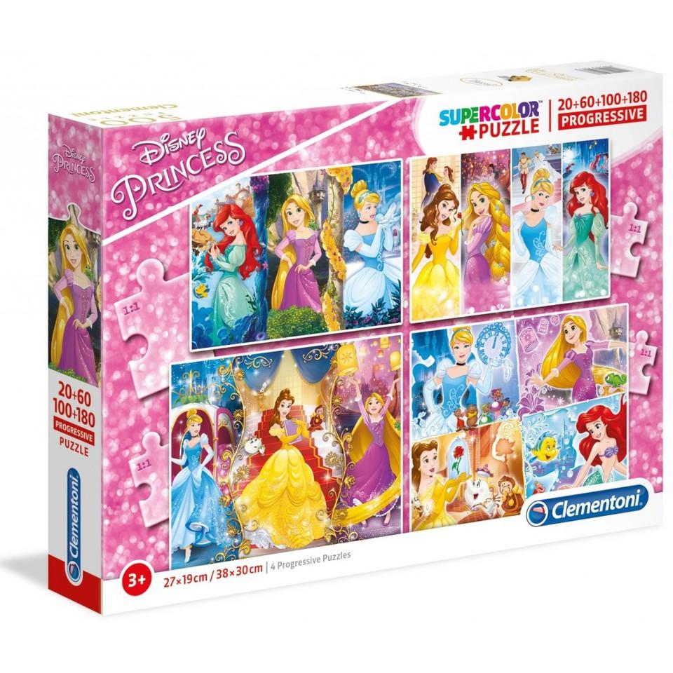 Clementoni puzzle4v1 Princezné