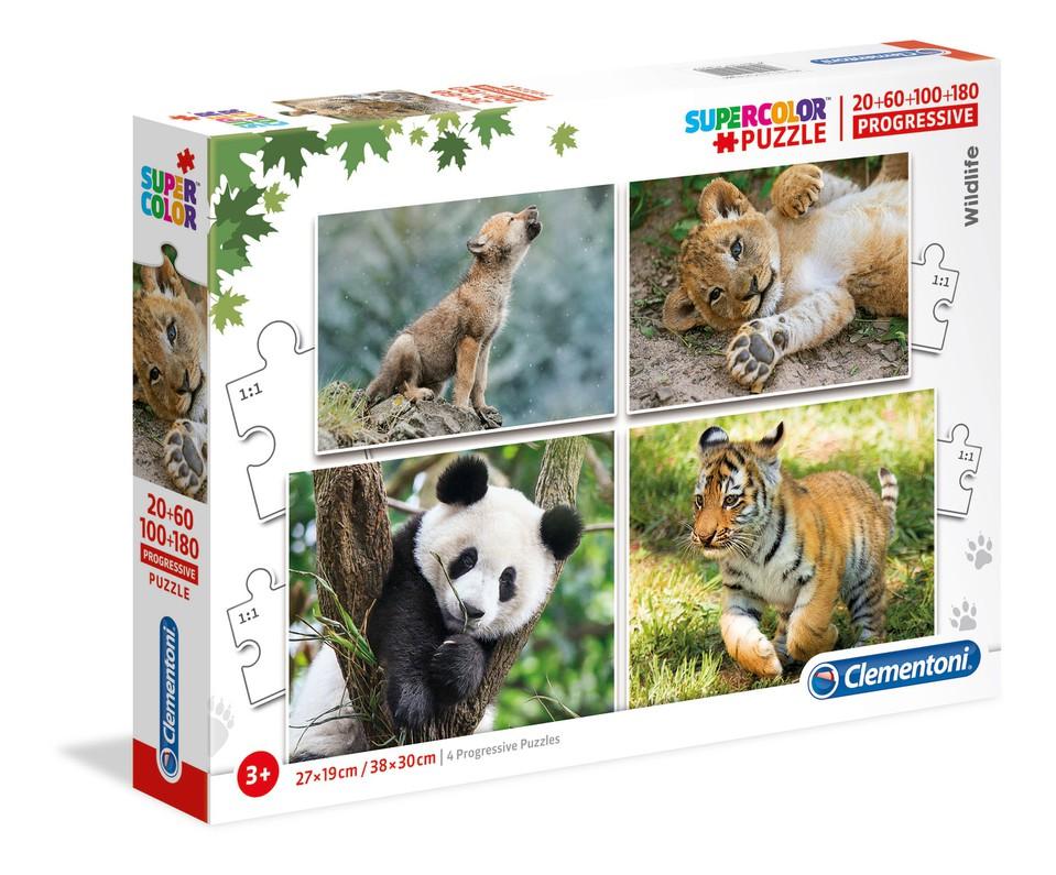 Clementoni puzzle4v1 Zvieratá