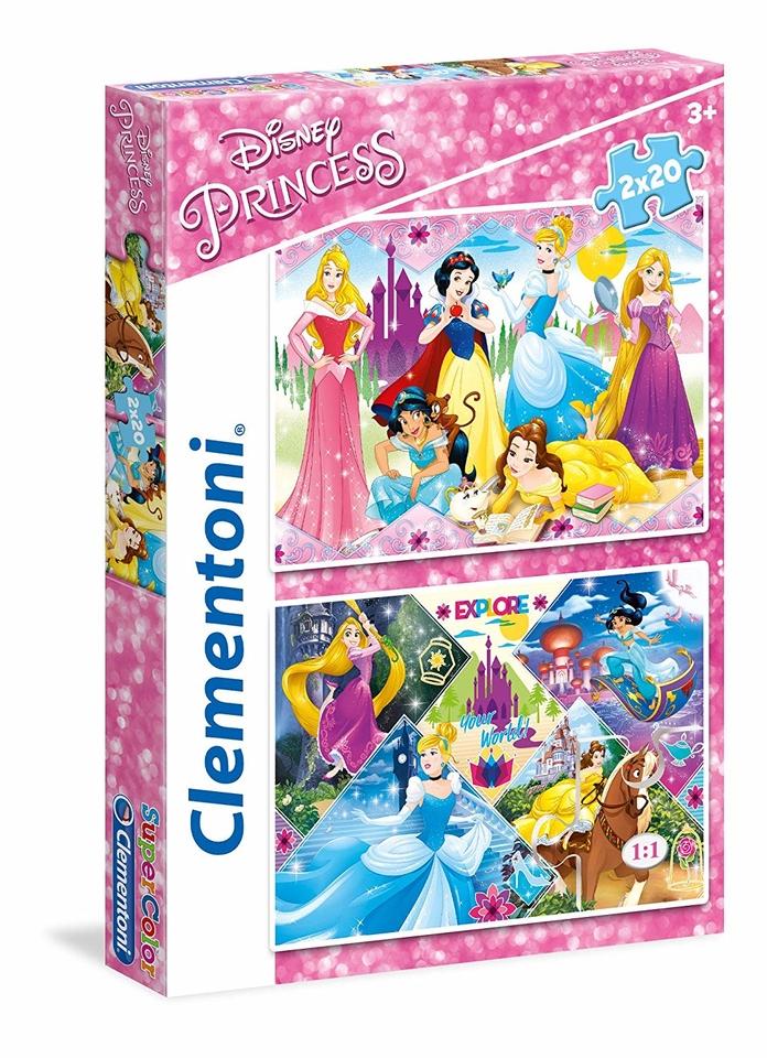 Clementoni puzzle 2x20 Princezné