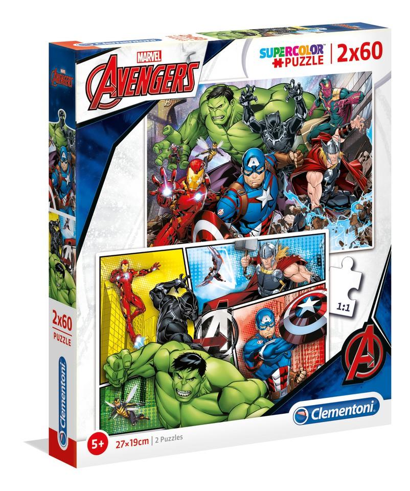 Clementoni Puzzle 2x60 Avengers
