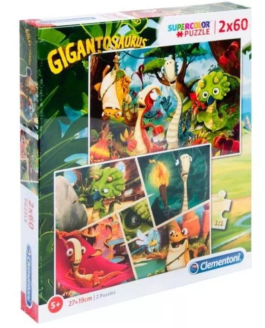Clementoni Puzzle 2x60 Gigantosaurus