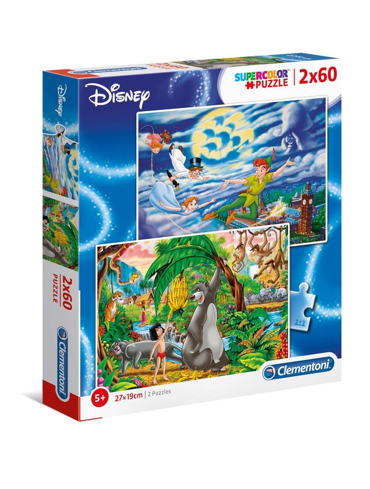 Clementoni Puzzle 2x60 Peter Pan+Kniha Ďzunglí