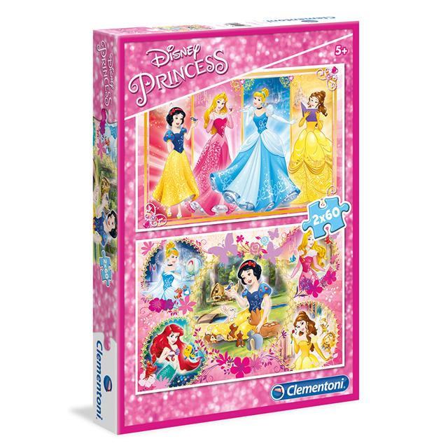 Clementoni Puzzle 2x60 Princezné