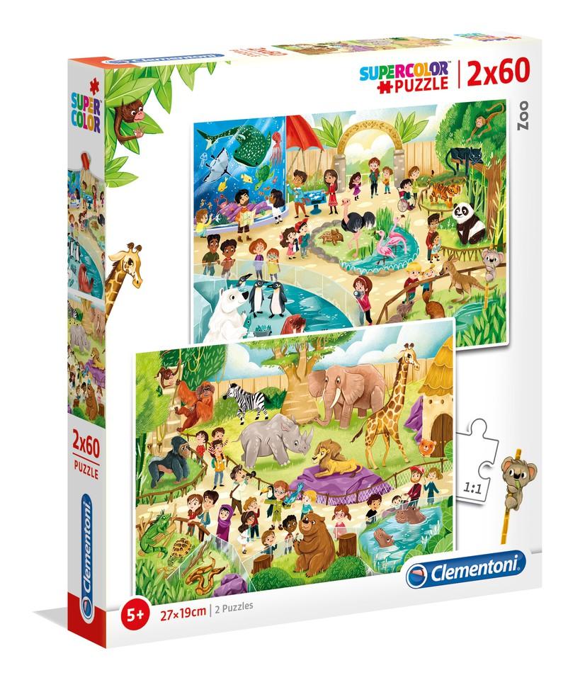 Clementoni Puzzle 2x60 Zoo