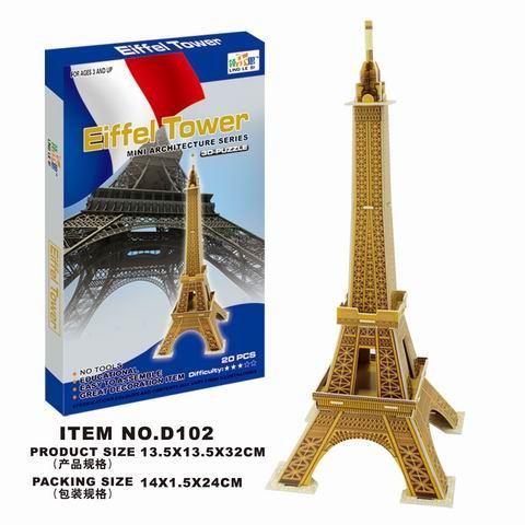 Puzzle 3D Eiffelová veža