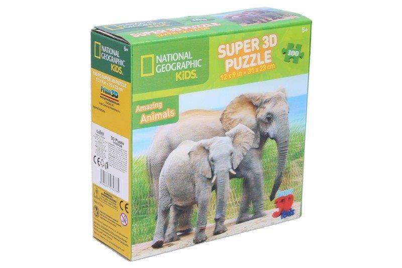 Puzzle 3D Slon100ks