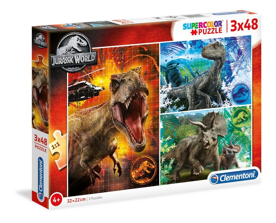 Clementoni Puzzle 3x48 Jurassic World