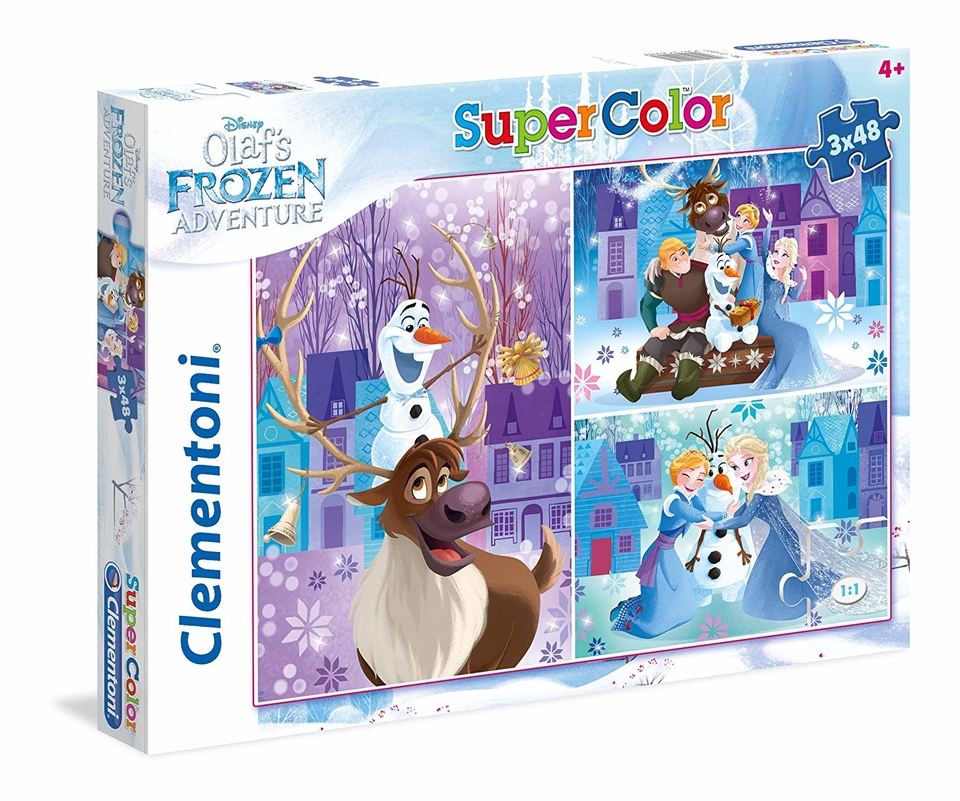 Clementoni puzzle 3x48 Olaf