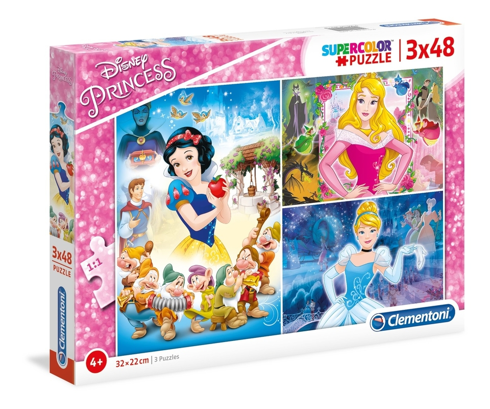 Clementoni Puzzle 3x48 Princess