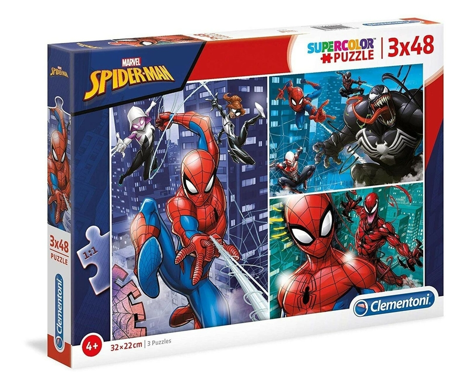 Clementoni puzzle 3x48 Spiderman