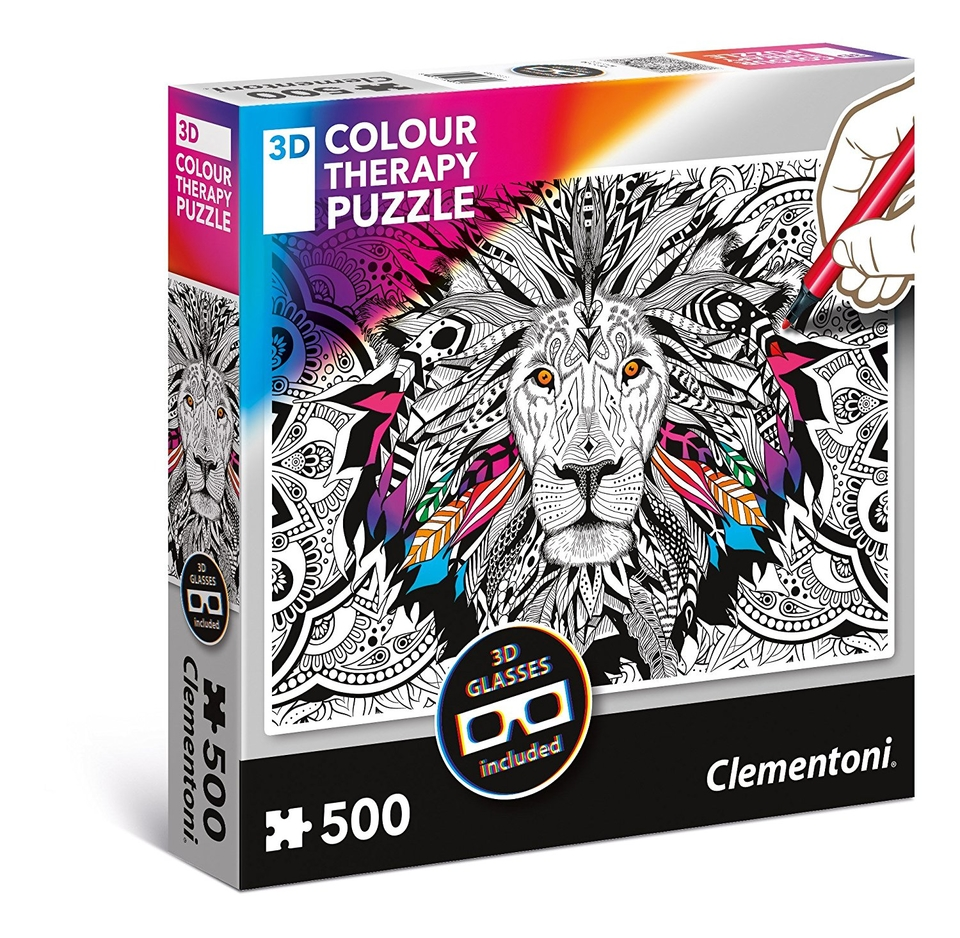 Clementoni Colour Magický Lev + 3D okuliare 500 dielov