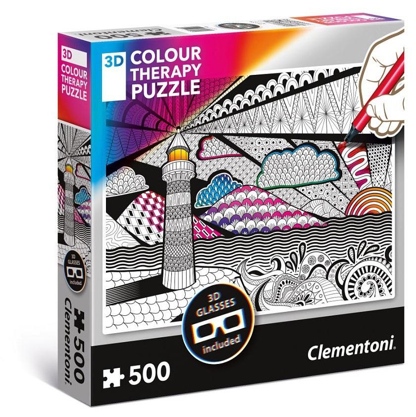 Clementoni Colour Maják + 3D okuliare 500 dielov