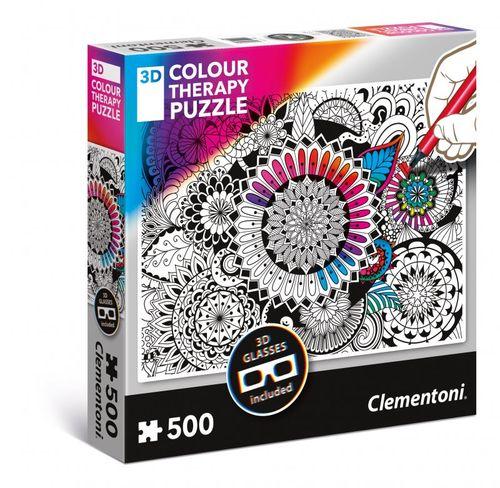 Clementoni Colour Therapy Mandala + 3D okuliare 500 dielov