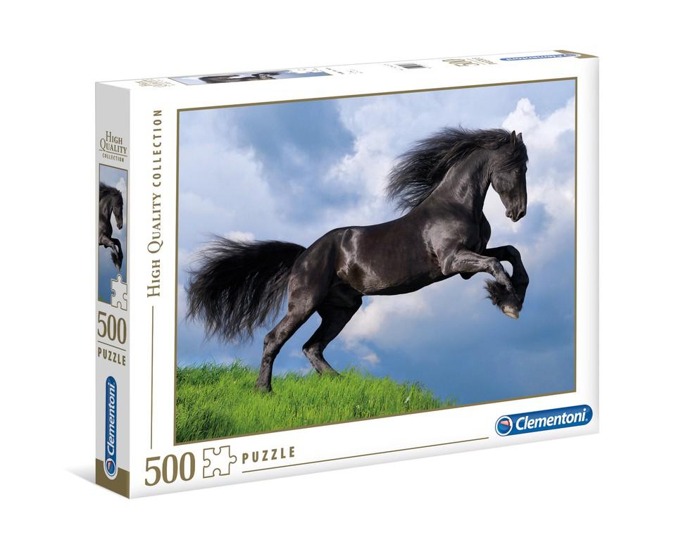 Clementoni Puzzle 500 Čierny kôň