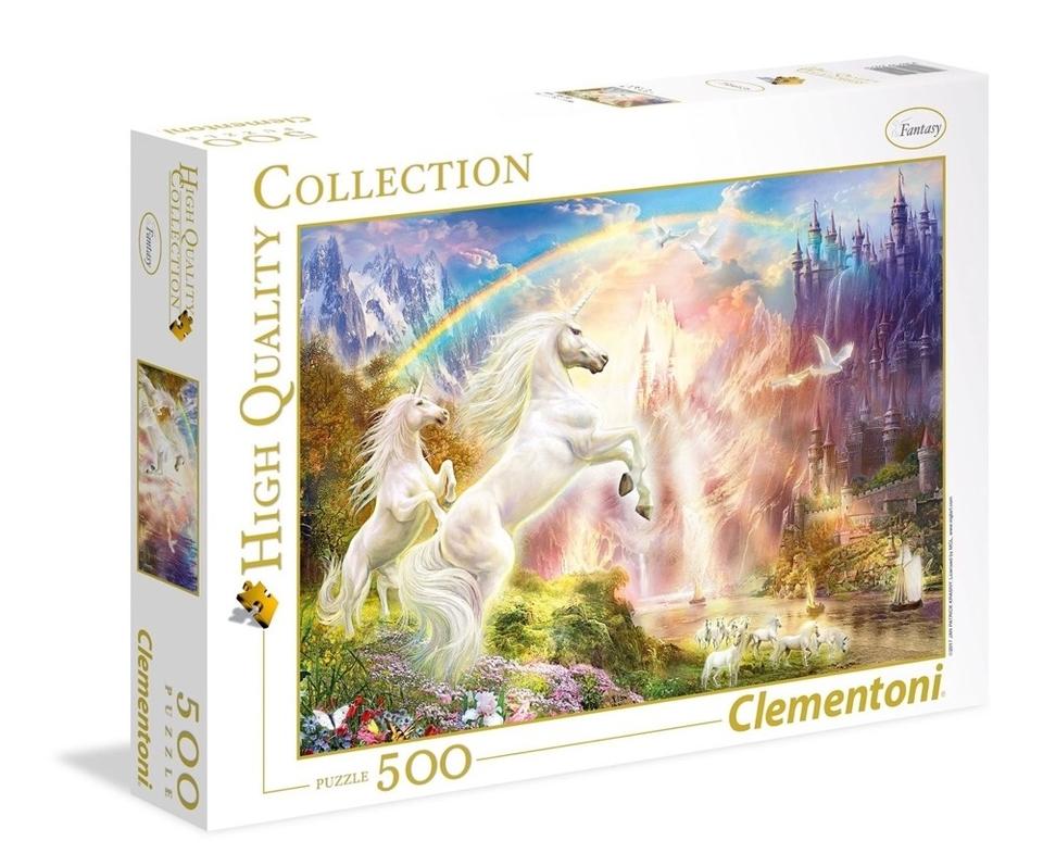 Clementoni Puzzle 500 Jednorožce pri západe slnka