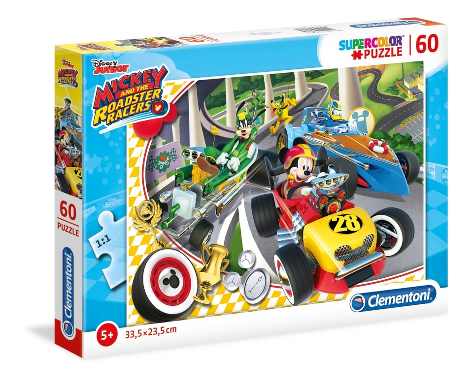Clementoni Puzzle 60 Mickey Racers