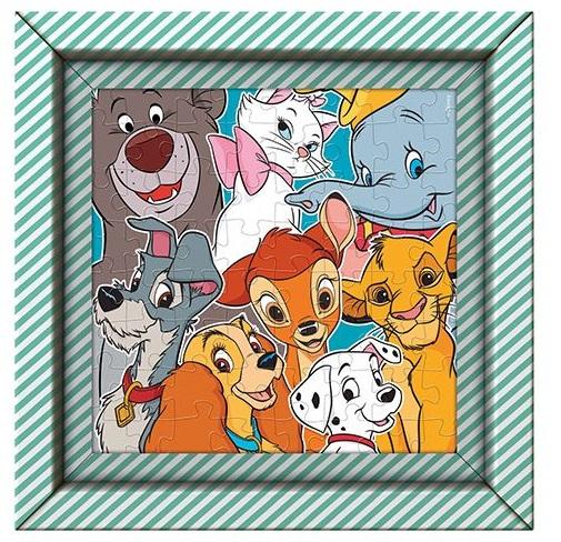 Clementoni puzzle s rámom 60ks Disney zvieratká