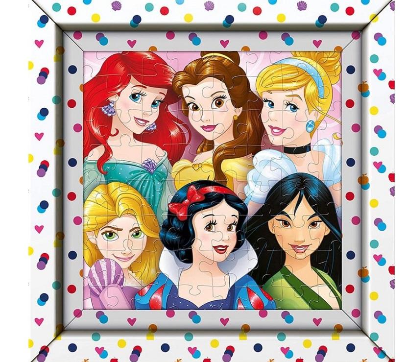Clementoni puzzle s rámom 60ks Princezné