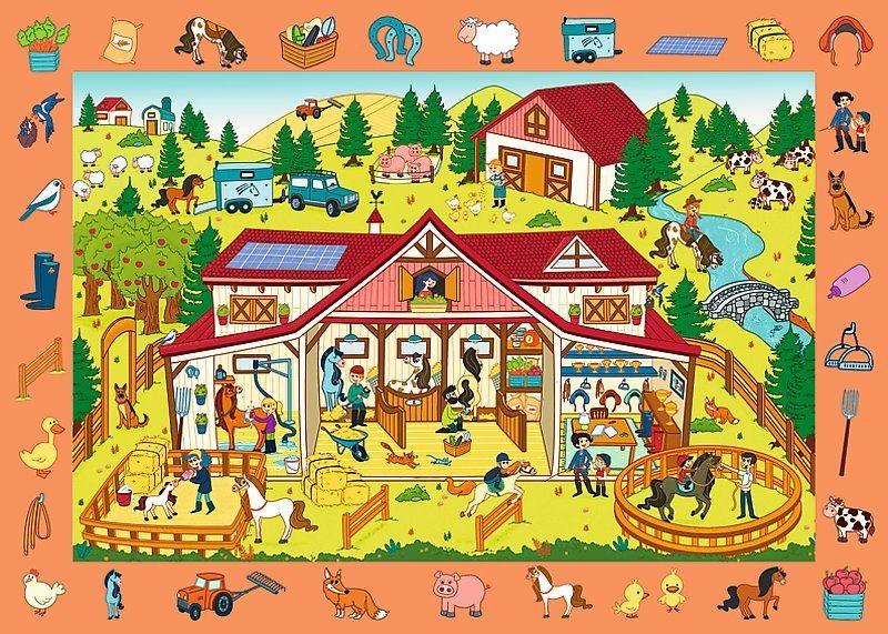 Puzzle s hľadaním predmetov - Farma
