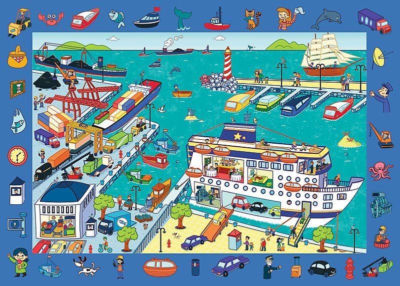 Puzzle s hľadaním predmetov - Prístav