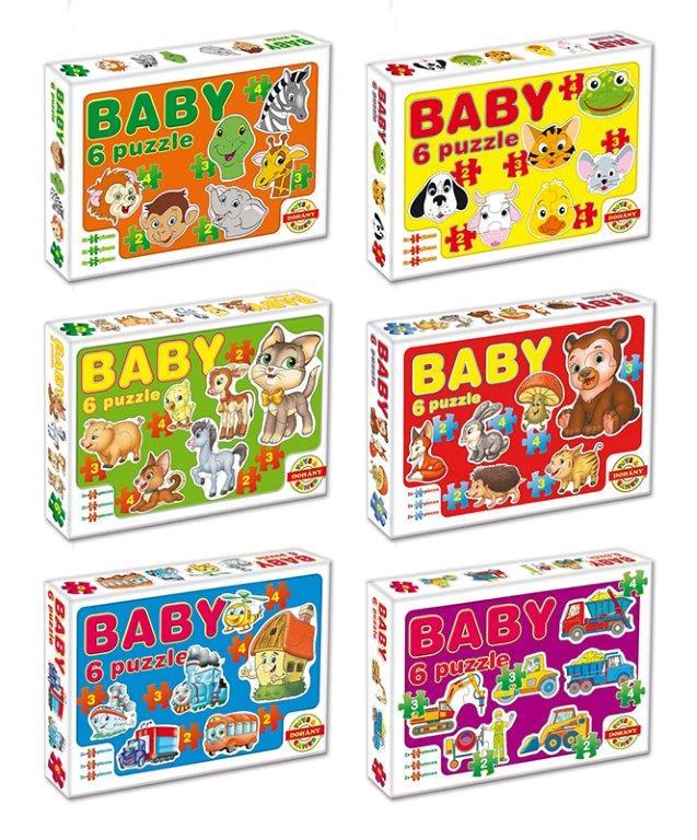 Dohány Baby puzzle mix - červená